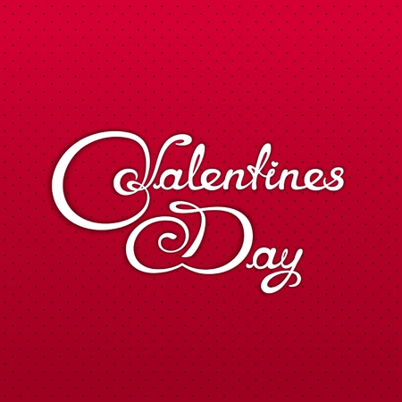 foursquare: Valentines Day banner with calligraphy lettering