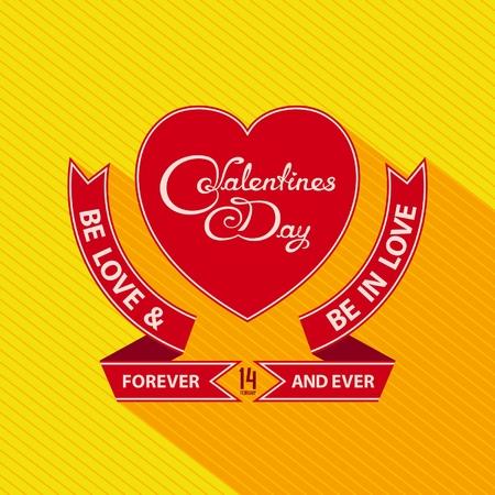 Valentines day emblem design Illustration