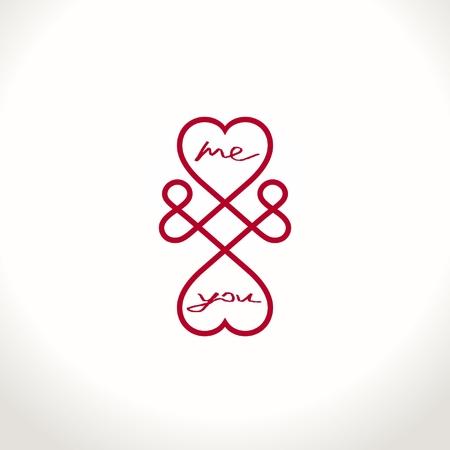 duas pessoas: Símbolo conceptual do amor infinito entre duas pessoas