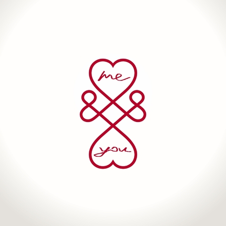 Conceptual symbol of infinite love between two people