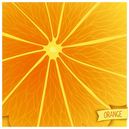 workpiece: Stylized orange background closeup of. Vector square template