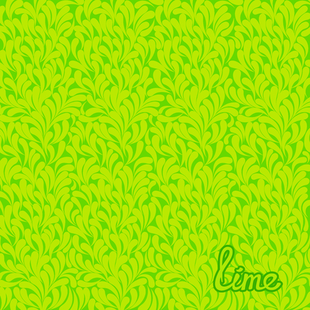 squiggles: Abstract stylized texture of citrus fruits. Lime pattern. Vector art template