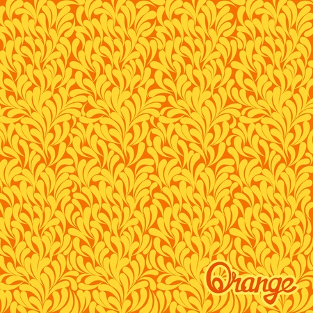 orange pattern: Abstract stylized texture of citrus fruits. Orange pattern. Vector art template Illustration