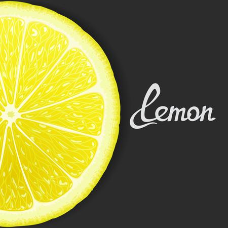 Just slice of lemon closeup.