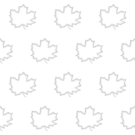 workpiece: Seamless pattern of shaded engraving maple leaf