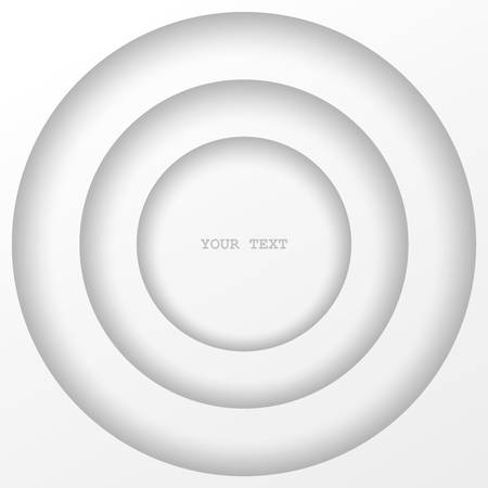 stepped: Abstract structure of stepped circles. White isolated element design