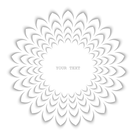 workpiece: Abstract stylized frame as flower. White isolated design element Illustration