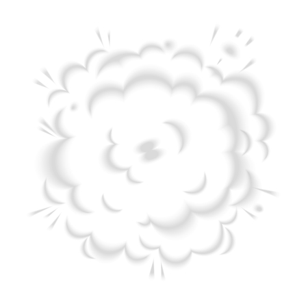 workpiece: Blurred vector clouds of smoke from bang. Comic book design element Illustration