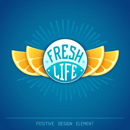 Fresh life - creative design. Stock Illustratie