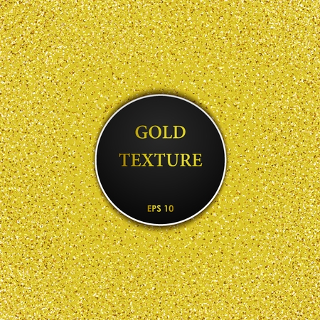 gold dust: Simply shining golden texture. Gold dust Illustration