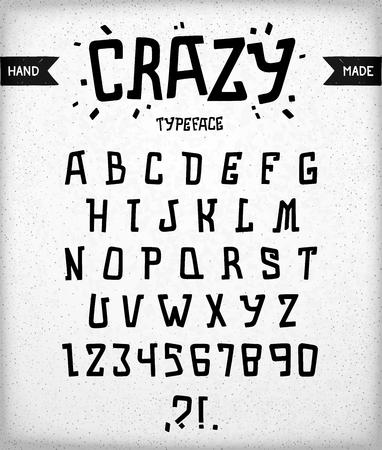 corcovado: la fuente del autor estilizada. Curvas, dise�o del alfabeto brutal y �spero desigual. La tipograf�a loca