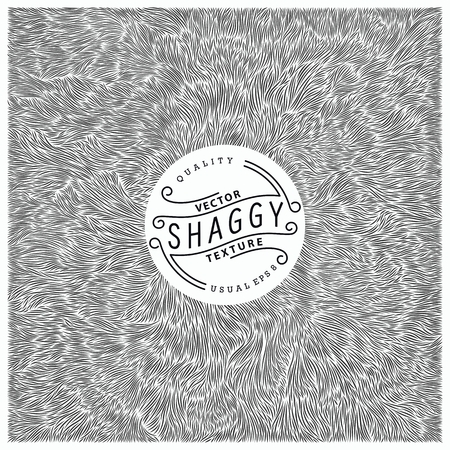 shaggy: Shaggy texture. Simple and quality monochrome pattern. Unique vector illustration.  Ready for print, web and other design Illustration