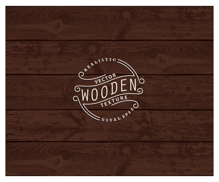 mahogany: Background of realistic wooden planks. Tricolor, simple, usable design. The color of mahogany Illustration