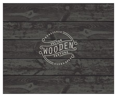 bog: Background of realistic wooden planks. Tricolor, simple, usable design. The color bog oak Illustration
