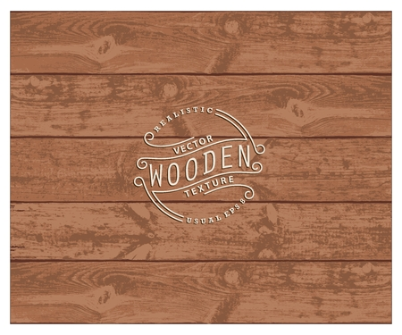 usable: Background of realistic wooden planks. Tricolor, simple, usable design. The cherry wood color