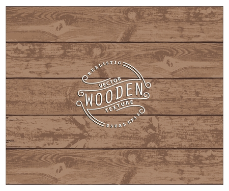 wood board: Background of realistic wooden planks. Tricolor, simple, usable design. The color of aged pine Illustration