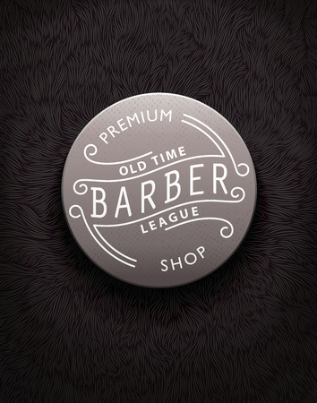 shaggy: Stylish vintage label for Barbershop with unique shaggy texture Illustration