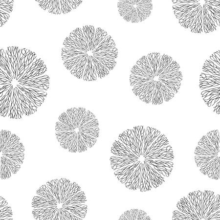 capillaries: Seamless pattern. Abstract organic meshwork elements. Vector illustration