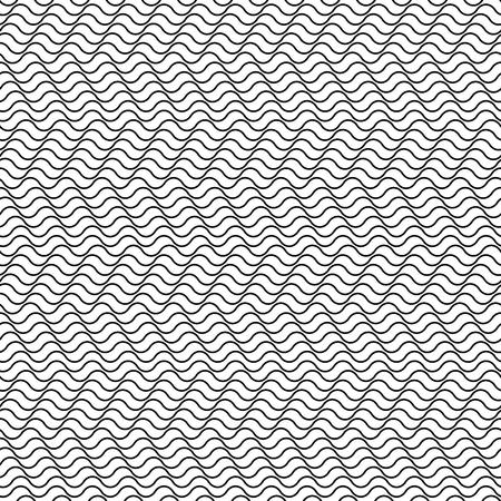 undulated: Seamless pattern. Horizontal wavy lines