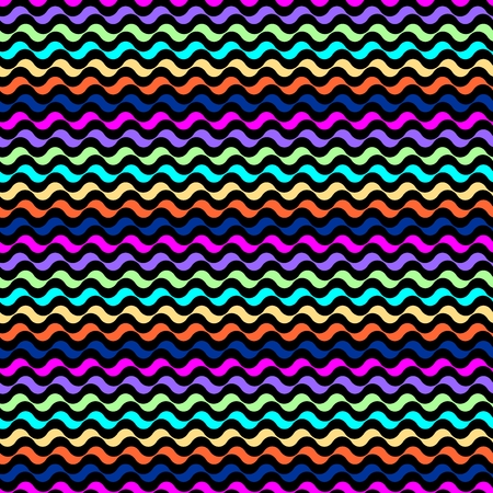 squiggles: Seamless pattern. Mixed colored waves texture