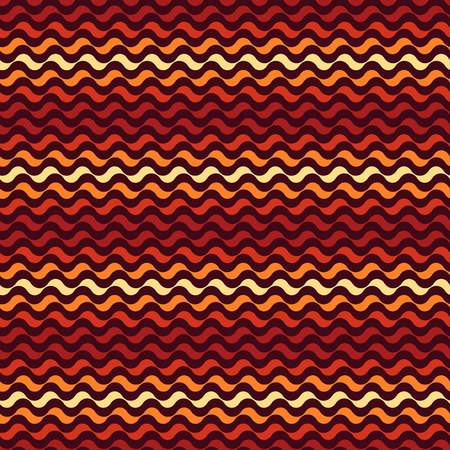 squiggles: Seamless pattern. Mixed shades of orange waves texture
