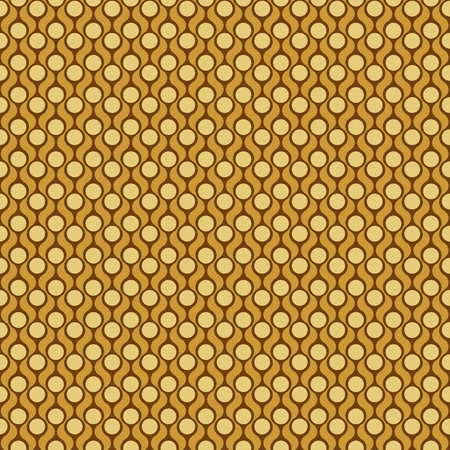 sixties: Seamless pattern. Geometric, simple print in the sixties style Illustration