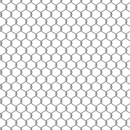chainlink: Metal chain-link fencing. Seamless Vector illustration Illustration