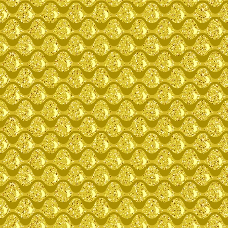 hauberk: Seamless pattern. Golden squama. Simple Vector illustration