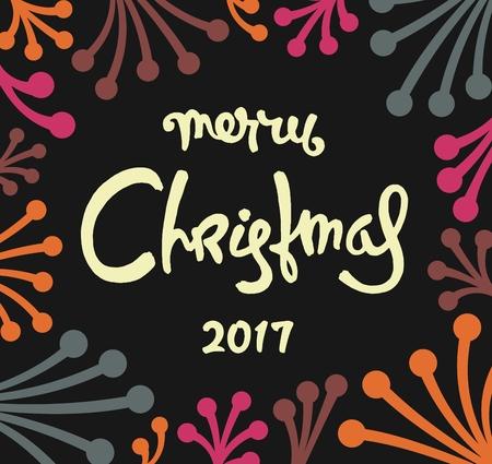 Creative Christmas label design. Trendy vector illustration
