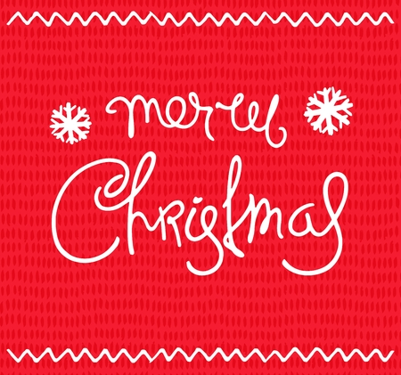 Retro Christmas card. Hand-drawn greetings calligraphy composition