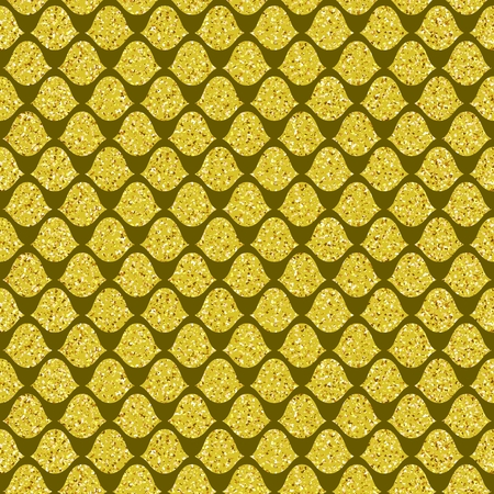 hauberk: Seamless pattern. Golden squama. Simple illustration Illustration