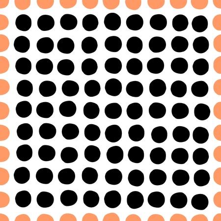 Seamless pattern. drawn specks in a row. illustration