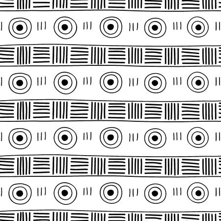 Seamless pattern. Ethnic ornament. Simple decorative drawn. illustration Illustration