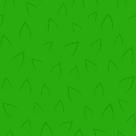 Seamless pattern. Abstract texture of green leaves. 3D imitation with long shadows.