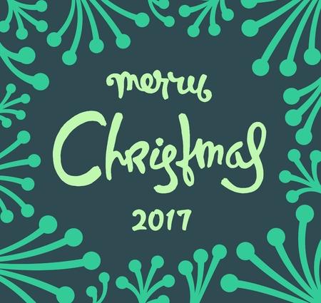 Creative Christmas label design. Trendy illustration