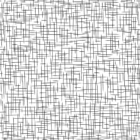 Nahtlose Muster. Schwarz-Weiß-Textur weben. Material Rupfen. Vektor-Illustration