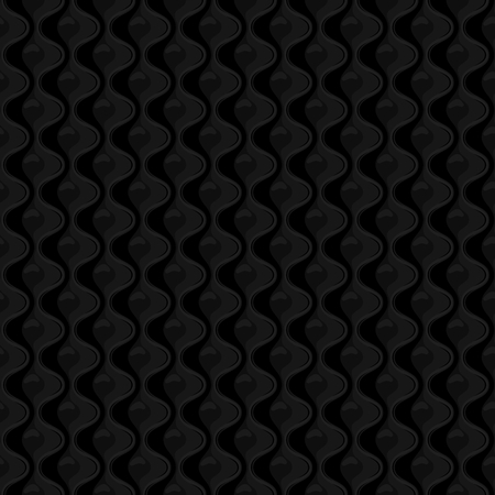 quilted: Black Seamless quilted pattern. Vector illustration
