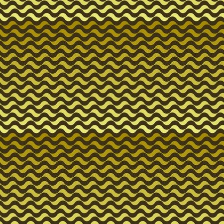 squiggles: Seamless pattern. Golden waves texture