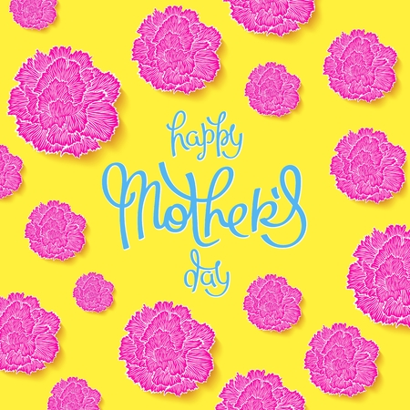 Happy Mothers Day. Funny greeting poster in 80-90s style. Vector design