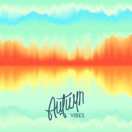 Creative Autumn Seasonal poster. Futuristic Modern Design. Beautiful color combination. Vector illustration Illustration