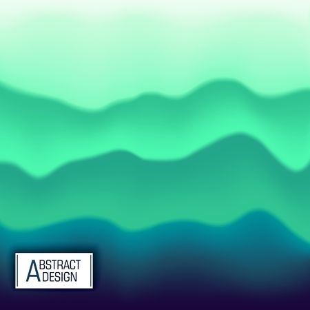 Abstract multicolored background. Wavy layered structure. Vector design. Modern art