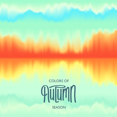 Creative Autumn Seasonal poster. Abstract Background. Modern Design. Beautiful color combination.  Vector illustration