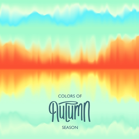 Creative Autumn Seasonal poster. Abstract Background. Modern Design. Beautiful color combination.  Vector illustration