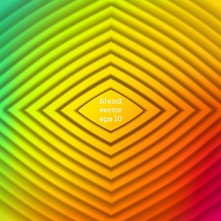 Iridescent color Vector background. Staged volume structure in the form of rhombus. 3D ripples effect Illustration