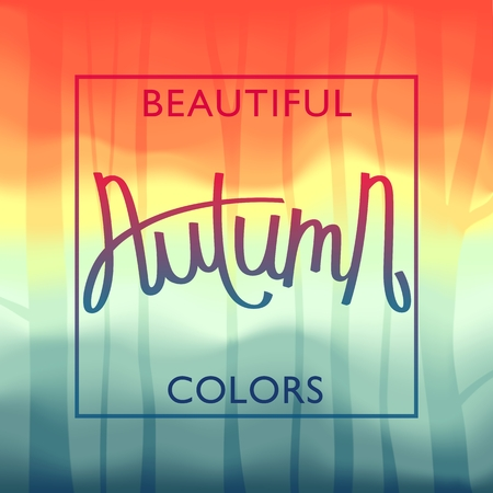 Beautiful autumn colors banner.
