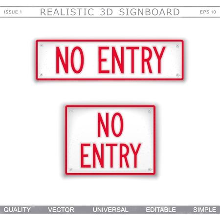 No Entry. Information signboard Top view Vector design elements
