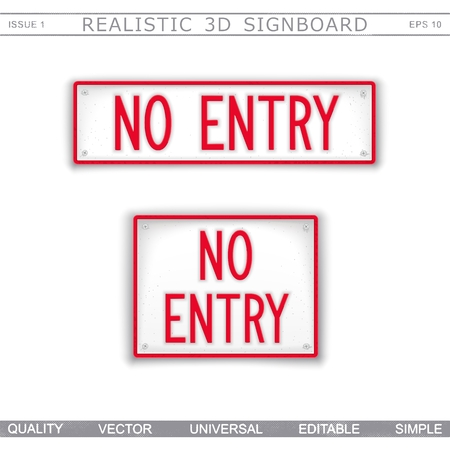 No Entry. Information signboard Top view Vector design elements