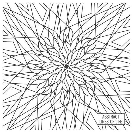 Design della geometria ornato. Ornamento creativo. Elementi di arredo vettoriale