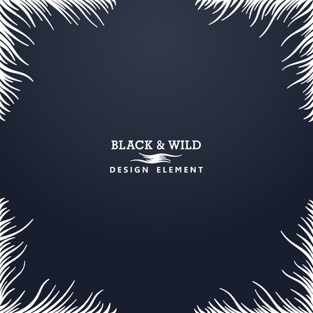 Black and Wild. Wavy lines. The motion effect to the center. Vector design elements Illusztráció