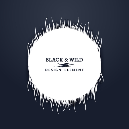 Black and Wild. Wavy lines. The motion effect on the vertical. Vector design elements